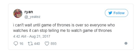 game of thrones not