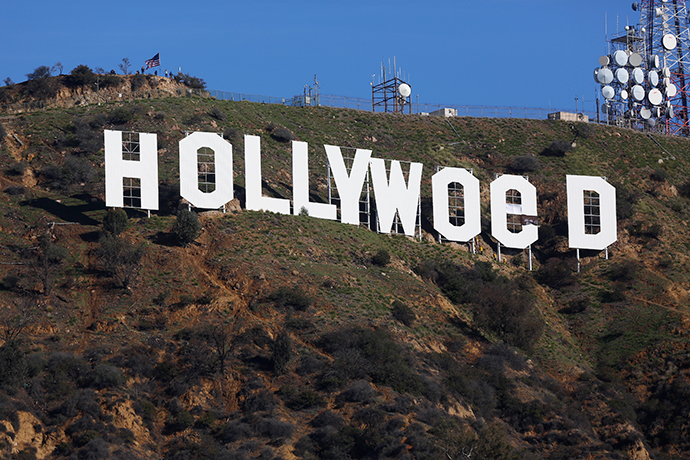 AP - επιγραφή - Hollyweed - Holywood